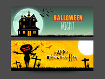 Web header or banner for Halloween Party. Royalty Free Stock Photography