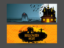 Web header or banner for Halloween Party. Royalty Free Stock Images