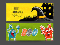 Web header or banner for Halloween Party. Stock Photos
