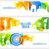 Web Header or Banner for Indian Independence Day. Royalty Free Stock Image