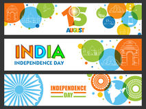 Web Header or Banner for Indian Independence Day. Stock Images