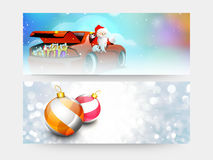 Web header or banner for Merry Christmas. Royalty Free Stock Image