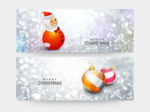 Web header or banner for Merry Christmas. Royalty Free Stock Photography
