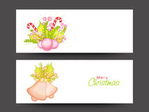 Web header or banner for Merry Christmas. Royalty Free Stock Photo