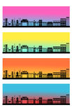 Web header banner set city skyline  Stock Images