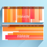 Web header or banner set. Royalty Free Stock Photography