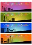 Web header banner set Stock Photos
