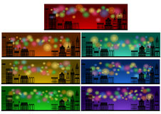 Web header banner set Royalty Free Stock Photos