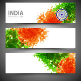 Web header or banner set for Indian Republic Day celebration. Stock Photography