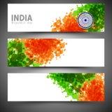 Web header or banner set for Indian Republic Day celebration. Stock Images