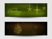 Web header or banner set for Merry Christmas celebration. Royalty Free Stock Photos