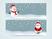 Web header or banner set for Merry Christmas celebration. Stock Photo