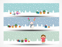 Web header or banner set for Merry Christmas. Stock Images