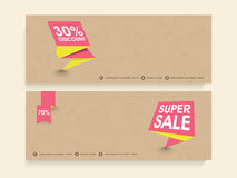 Web header or banner set for sale. Royalty Free Stock Image