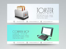 Web header or banner set. Stock Photos