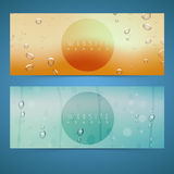 Web header or banner set. Royalty Free Stock Photo