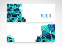 Web header or banner set for your business. Royalty Free Stock Photo