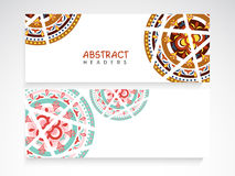 Web header or banner set for your business. Stock Images