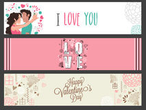 Web header or banner for Valentine's Day. Stock Photos