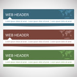 Web header in flat design style Royalty Free Stock Photo