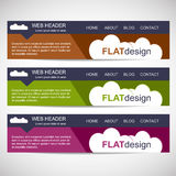 Web header in flat design style Royalty Free Stock Photos