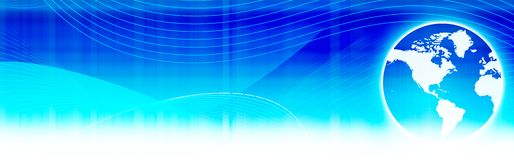 Web header / world globe Royalty Free Stock Images