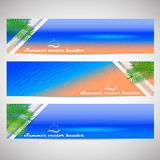 Web headers or banners with summer holiday theme Royalty Free Stock Photo