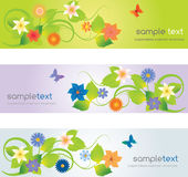 Web headers with flowers Royalty Free Stock Photo