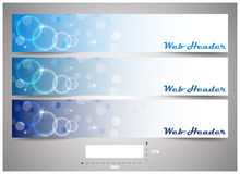 Web headers with precise dimension, set of  banners Royalty Free Stock Photography