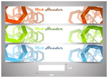 Web headers with precise dimension, set of  banners Stock Photography