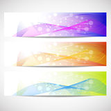 Web headers, set of  banners Royalty Free Stock Image