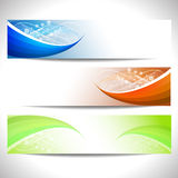 Web headers, set of  banners Royalty Free Stock Photography