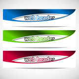 Web headers, set of  banners Royalty Free Stock Photos