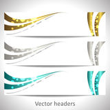 Web headers, set of  banners Royalty Free Stock Images