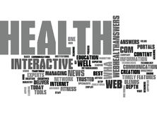 Web Health Answers Word Cloud Royalty Free Stock Images