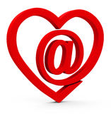 The web heart Stock Photography