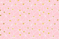 Web of hearts seamless pattern design. Valentines day, wedding, cards, gifts, packaging. vector background stock illustration