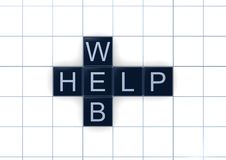 Web and help words Royalty Free Stock Photo