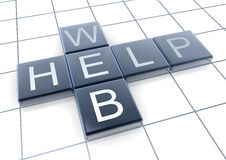 Web and help words Stock Photography