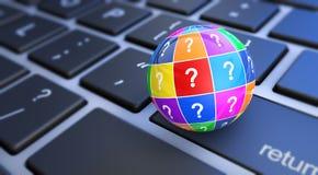 Web het de Vragen van de Steunhulp Stock Fotografie