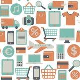 Web het winkelen patroon Stock Foto