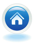 Web home button. Glowing Home web button in Vector format Stock Images