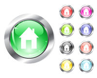 Web home icon Stock Images