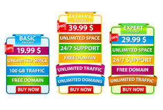 Web host banners Stock Photography