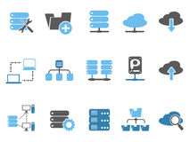 Web host icons set, blue series. Isolated web host icons set, blue series from white background Royalty Free Stock Image