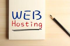 Web hosting Fotos de archivo libres de regalías