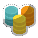 web hosting or data center related icons image Royalty Free Stock Photo