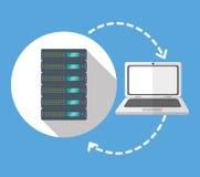 Web hosting design Stock Images