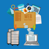 Web hosting design Stock Photography