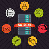Web hosting design Royalty Free Stock Photography